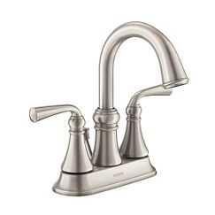 Spot resist brushed nickel two-handle bathroom faucet