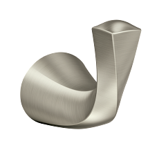 Brushed nickel robe hook