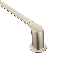 "Brushed nickel 24"" towel bar"
