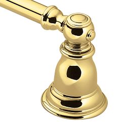 Polished brass towel bar