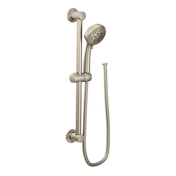 Shower Head Slide Bar Brushed Nickel