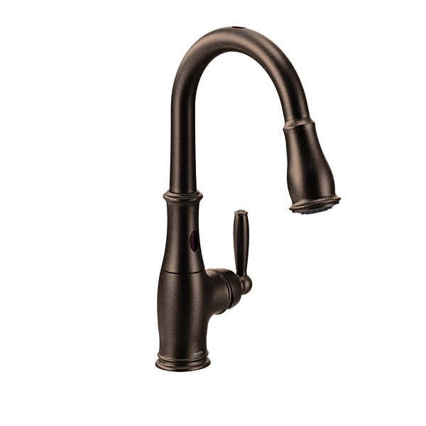 Brantford oil rubbed bronze one handle high arc pulldown