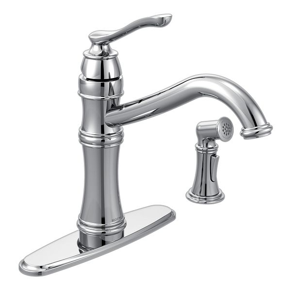 Belfield Chrome One Handle High Arc Kitchen Faucet 7245c Moen
