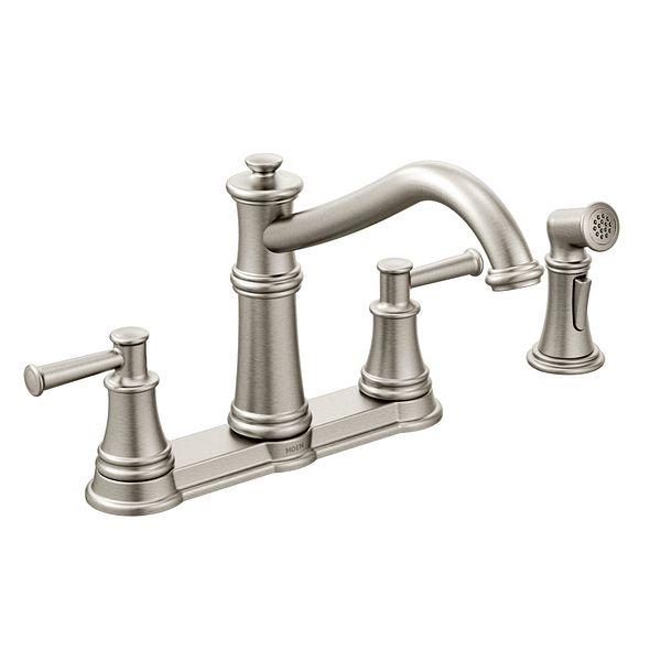 belfield spot resist stainless two handle high arc kitchen banbury chrome two handle high arc kitchen faucet 87001