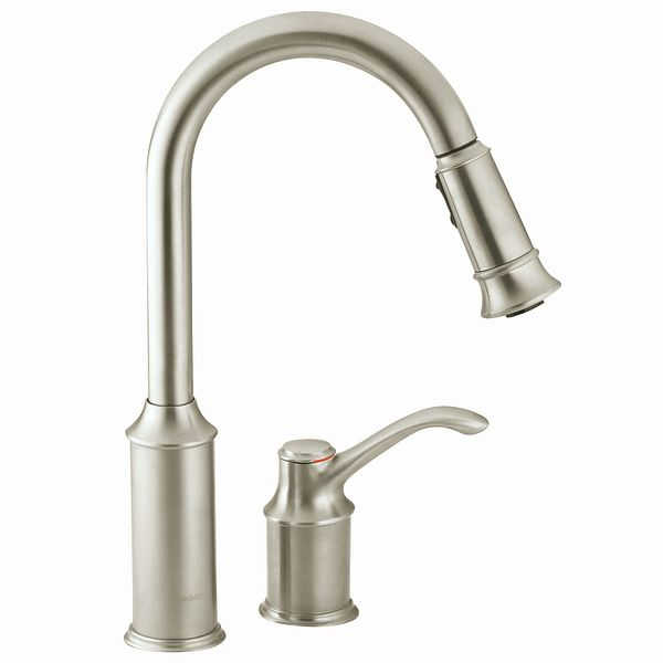 Aberdeen Classic Stainless One Handle High Arc Pulldown