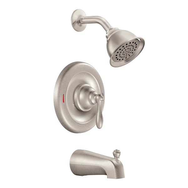 Moen Caldwell Kitchen Faucet Repair : Caldwell spot resist brushed nickel posi temp? tub shower