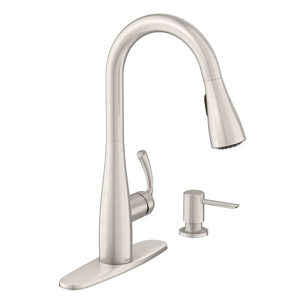 Essie spot resist stainless one handle high arc pulldown