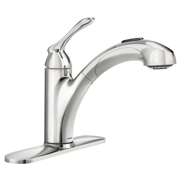 banbury chrome one handle pullout kitchen faucet 87017