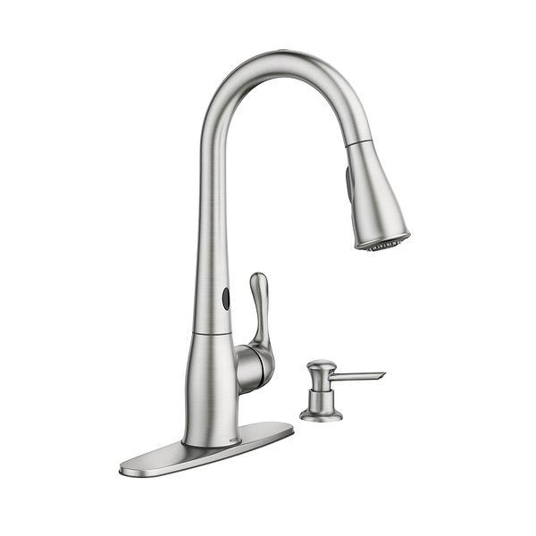 ridgedale spot resist stainless one handle high arc
