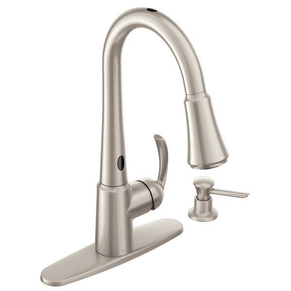 Moen Motionsense Kitchen Faucet Delaney Spot Resist Stainless One Handle  High Arc Pulldown