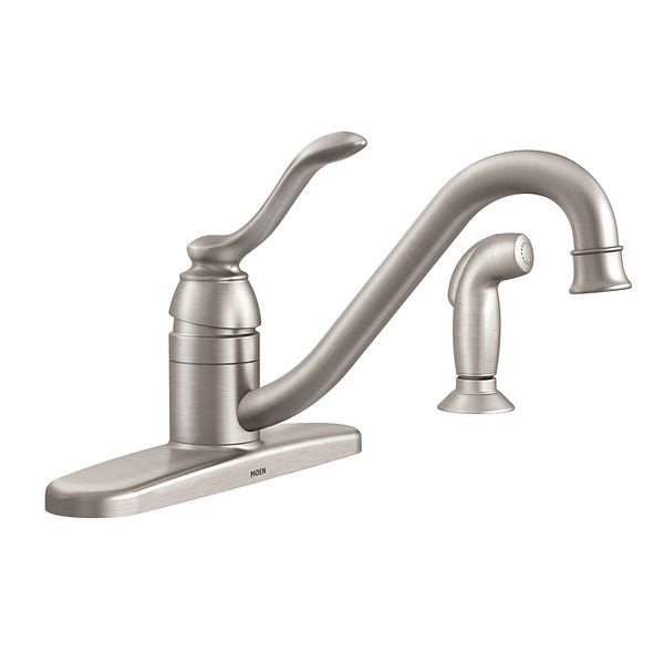 banbury spot resist stainless one handle low arc kitchen