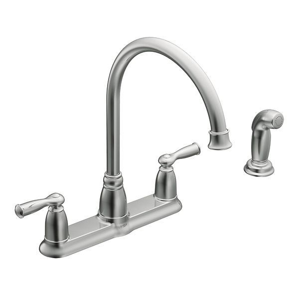 banbury chrome two handle high arc kitchen faucet
