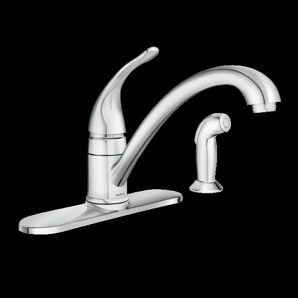 Torrance chrome one handle low arc kitchen faucet