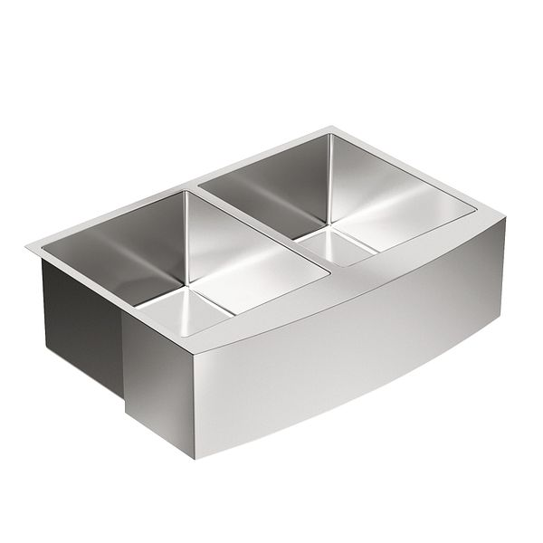 1800 Series 30 Quot X 21 Quot Stainless Steel 18 Gauge Double Bowl
