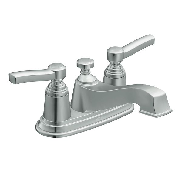 Rothbury chrome two handle low arc bathroom faucet s6201 - Moen chrome bathroom sink faucets ...