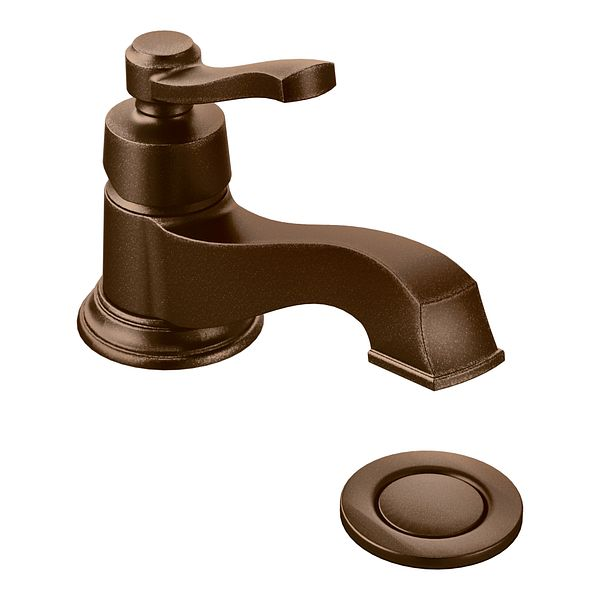 rothbury oil rubbed bronze one handle low arc bathroom faucet