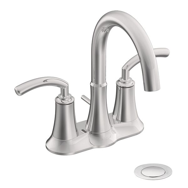 icon chrome two handle high arc bathroom faucet s6510 moen