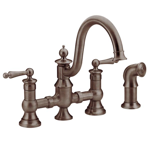 ... oil rubbed bronze two-handle high arc kitchen faucet - S713ORB - Moen