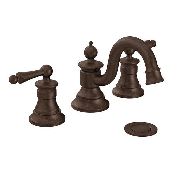 Waterhill oil rubbed bronze two handle high arc bathroom