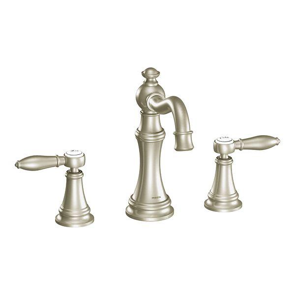Griferia Para Baño Moen:Moen Bathroom Faucets Brushed Nickel