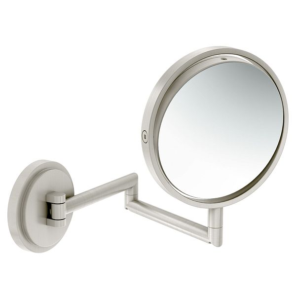 Cool  Mirror In Brushed Nickel Finish  Transitional  Bathroom Mirrors  By