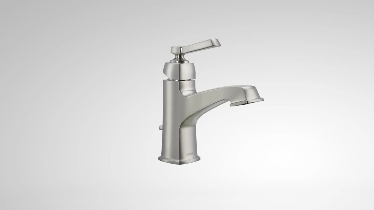 Boardwalk Spot Resist Brushed Nickel One Handle High Arc Bathroom Faucet Ws84805srn Moen