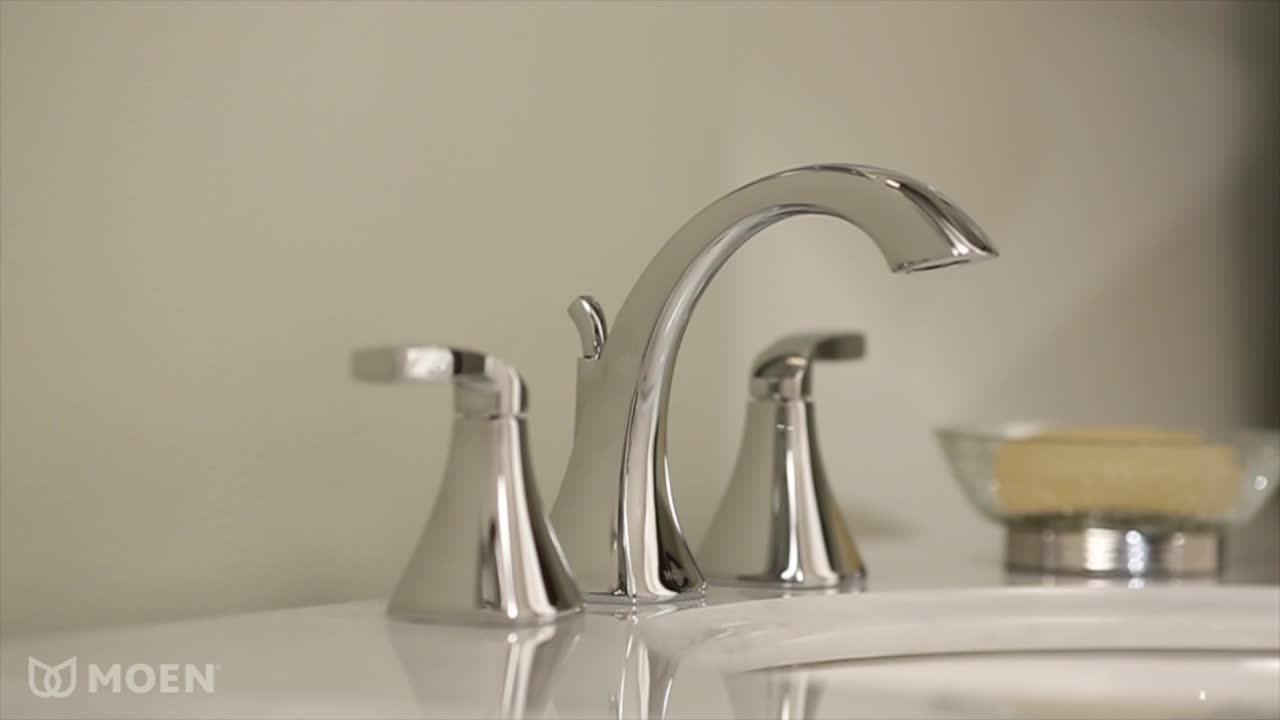 Moen Yb9863orb Waterhill Three Globe Bath Light Oil: Voss Oil Rubbed Bronze Two-handle High Arc Bathroom Faucet